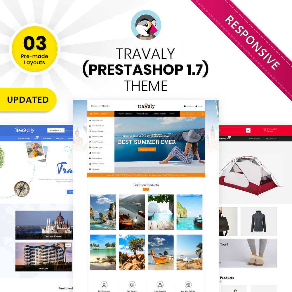 theme - Sports, Activities & Travel - Travaly  -The Tourism Store - 1