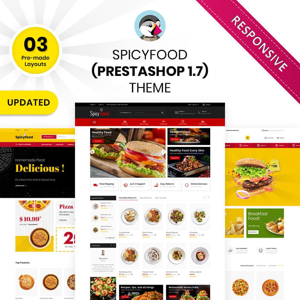 theme - Food & Restaurant - Spicy Food - The Mega Food Shop - 1