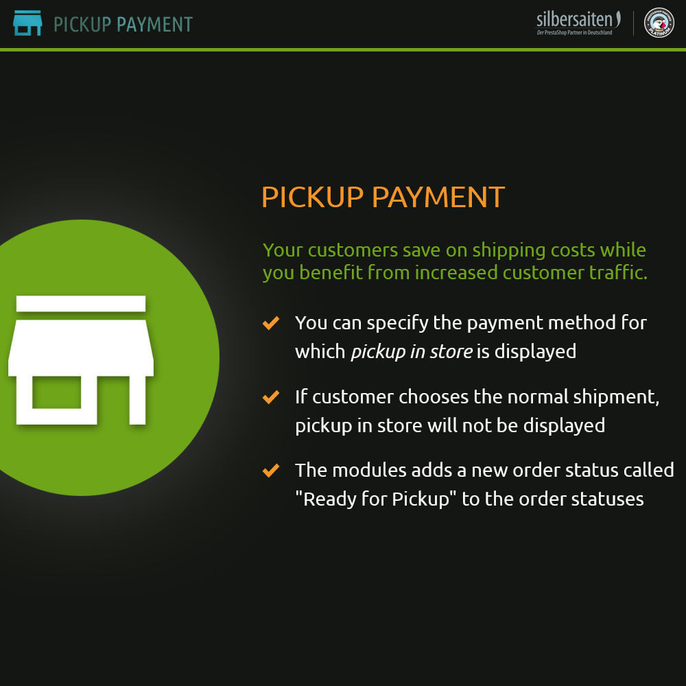 module - Payment in Physical Stores - Pickup Payment - 1