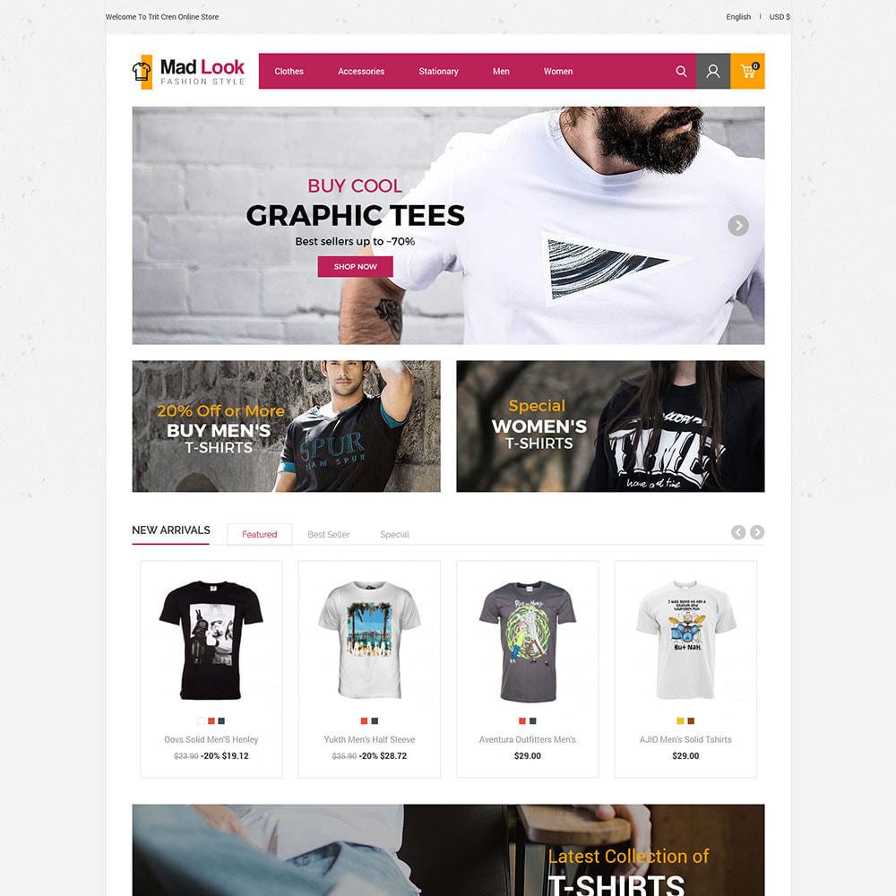 theme - Moda y Calzado - Look Tshirt  - Men Fashion Shirt  Store - 1
