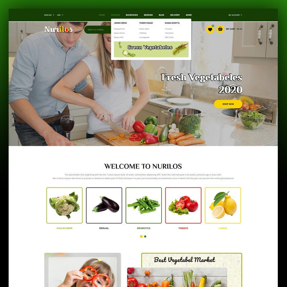 theme - Żywność & Restauracje - Nurilos - Vegetable Store - 2