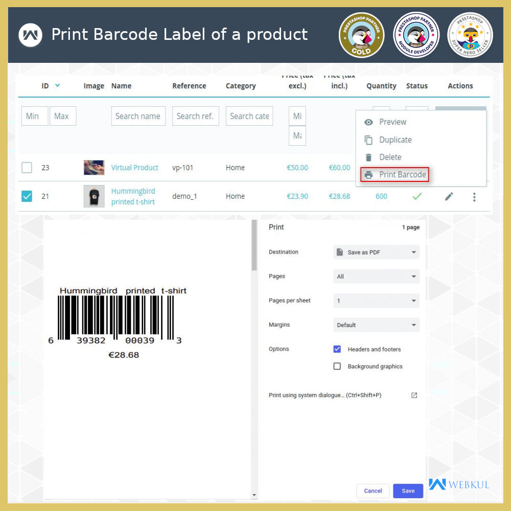 module - Preparation & Shipping - Product Barcode Label | Barcode Generator - 3