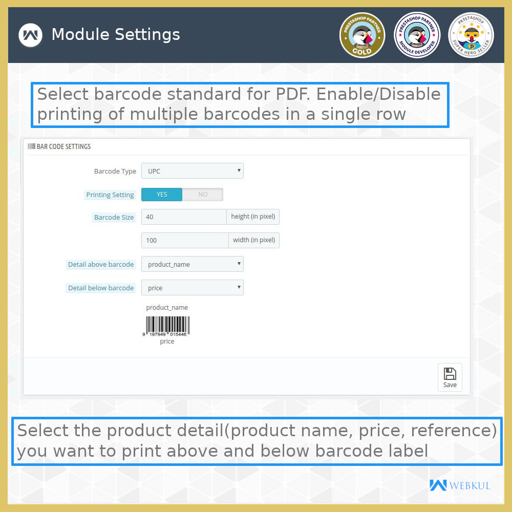 module - Preparation & Shipping - Product Barcode Label | Barcode Generator - 7