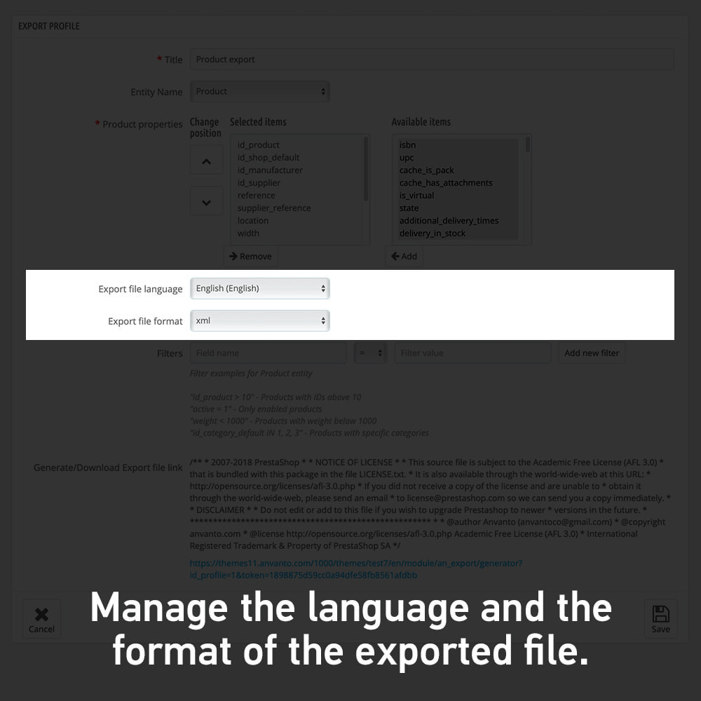 module - Import & Export de données - Advanced Export All in One - 3