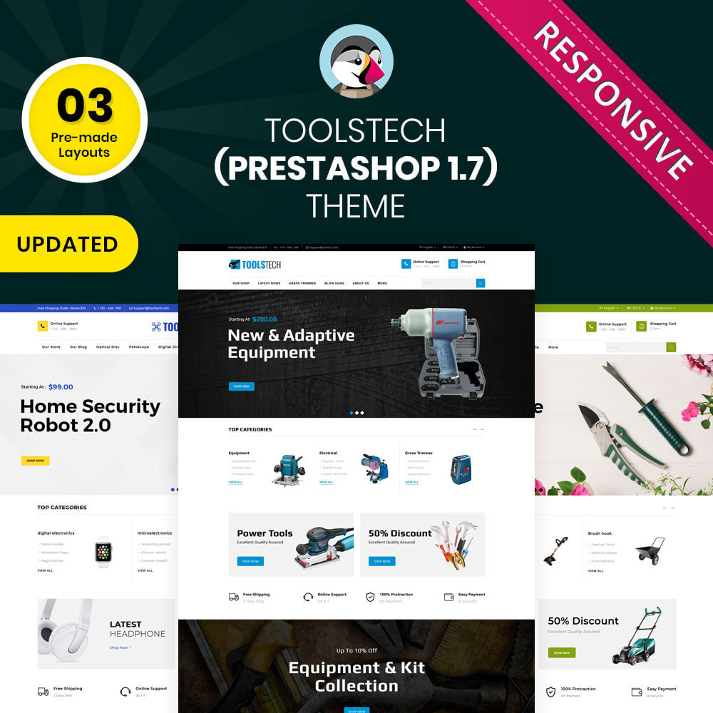 theme - Electronique & High Tech - ToolTech - Le magasin d'outils - 1