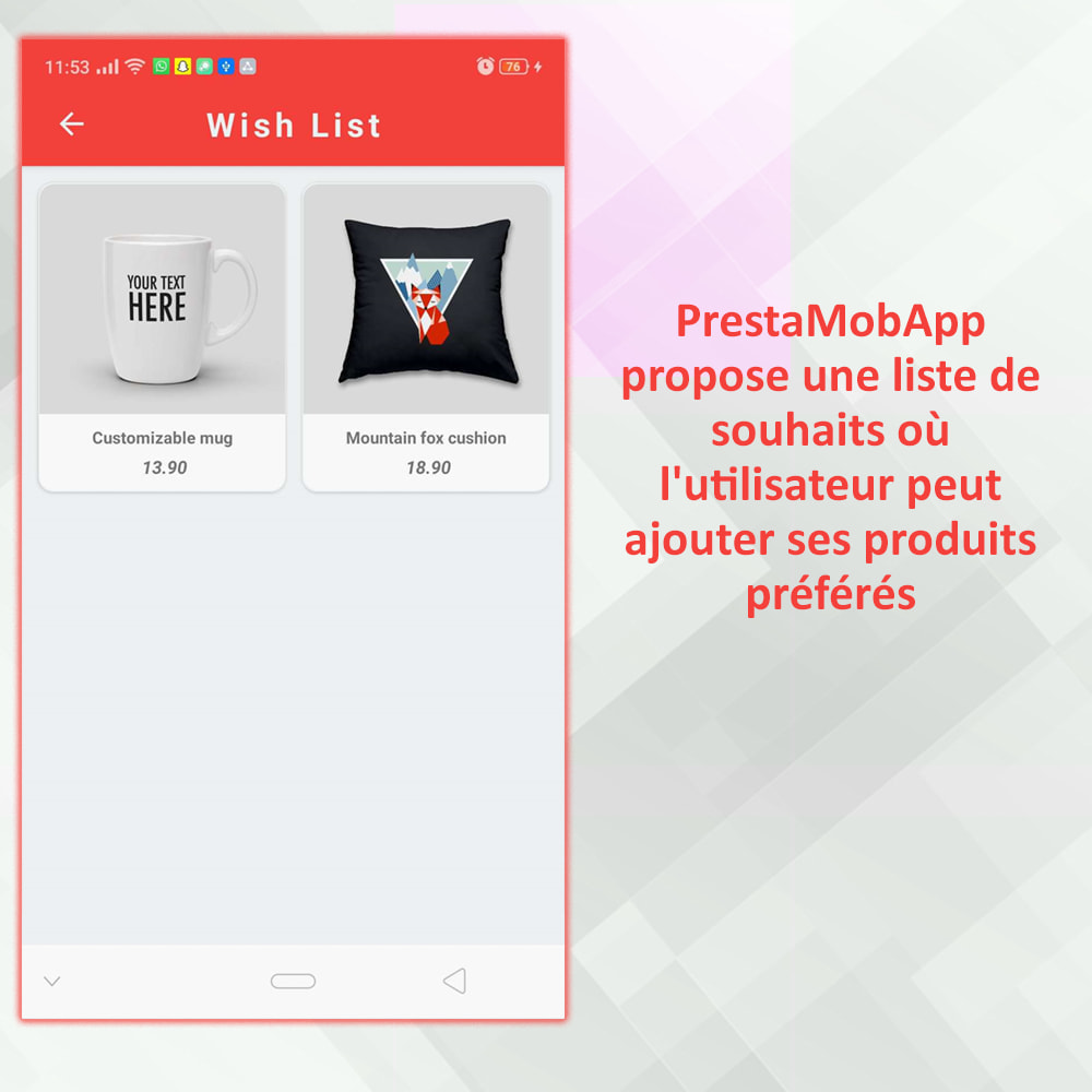 module - Mobile - PrestaMobApp - Créateur d'applications natif module - 18