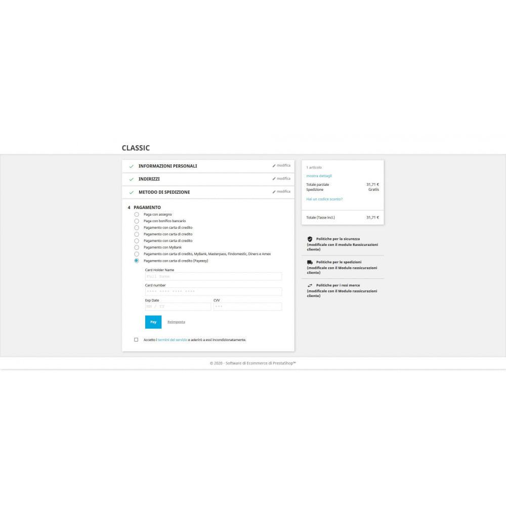 module - Pagamento con Carta di Credito o Wallet - Pagamento Payeezy - 3