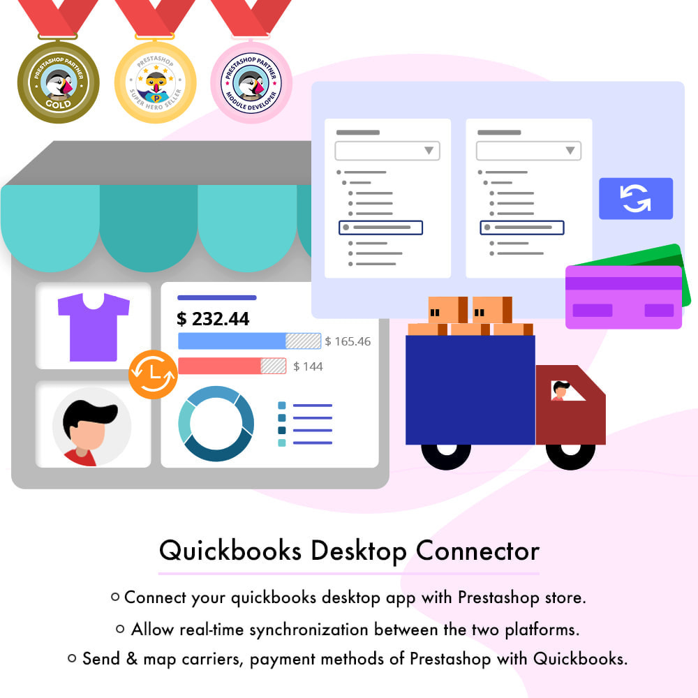 module - Third-party Data Integration (CRM, ERP...) - QuickBooks Desktop Connector - 1