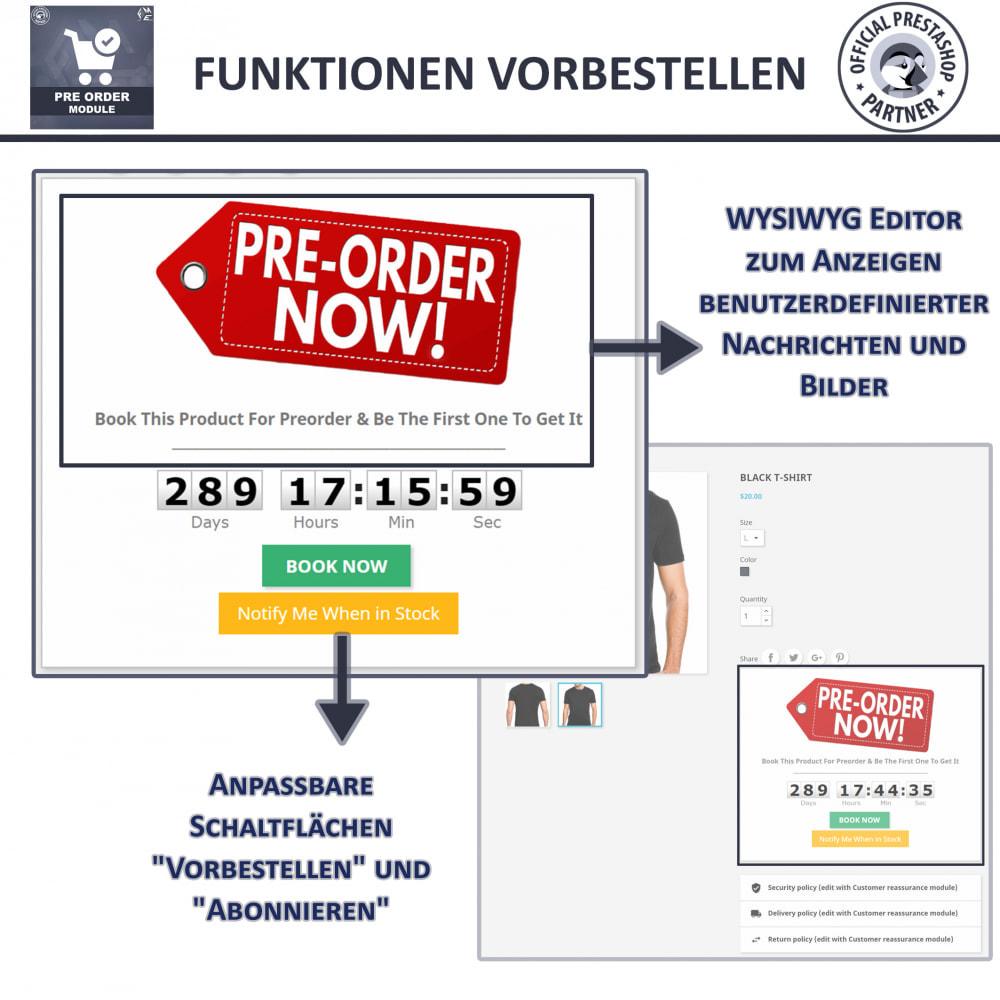 module - Anmeldung und Bestellvorgang - Vorbestellung und Lagerbenachrichtigung - 5