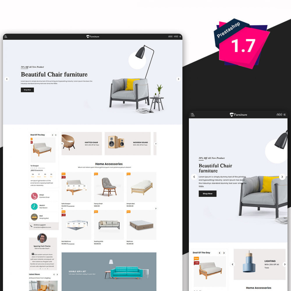 theme - Art & Culture - Furniture - The Furnitures & Interior eCommerce Store - 1