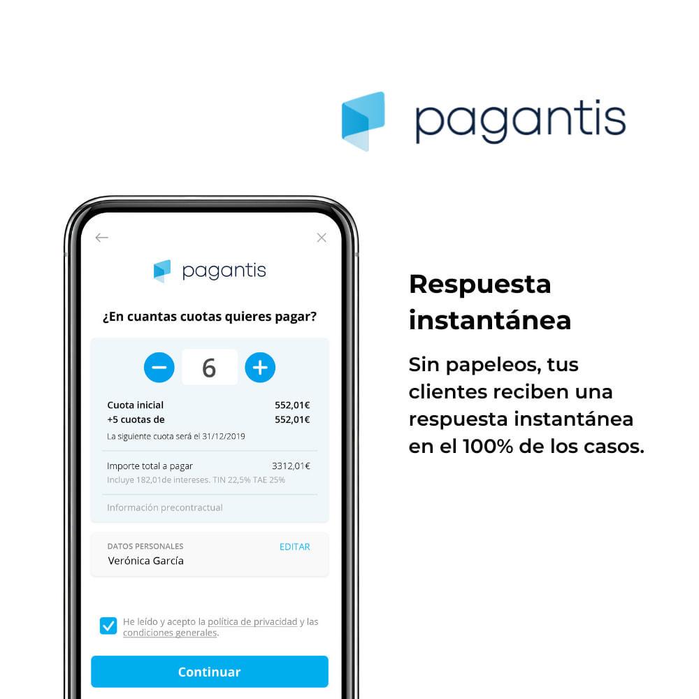 module - Otros métodos de pago - Pagantis - 2