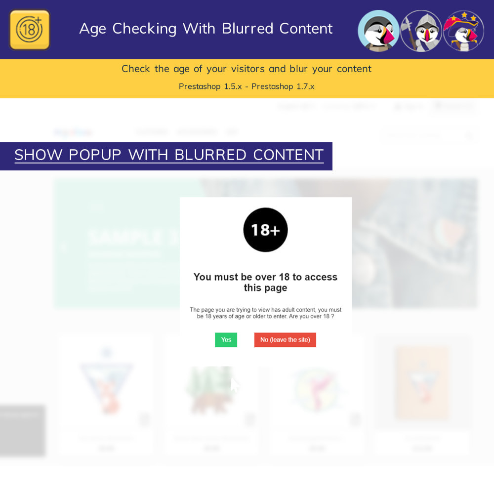 module - Security & Access - Age Checking For Regulated Content - Blur Content Pro - 2
