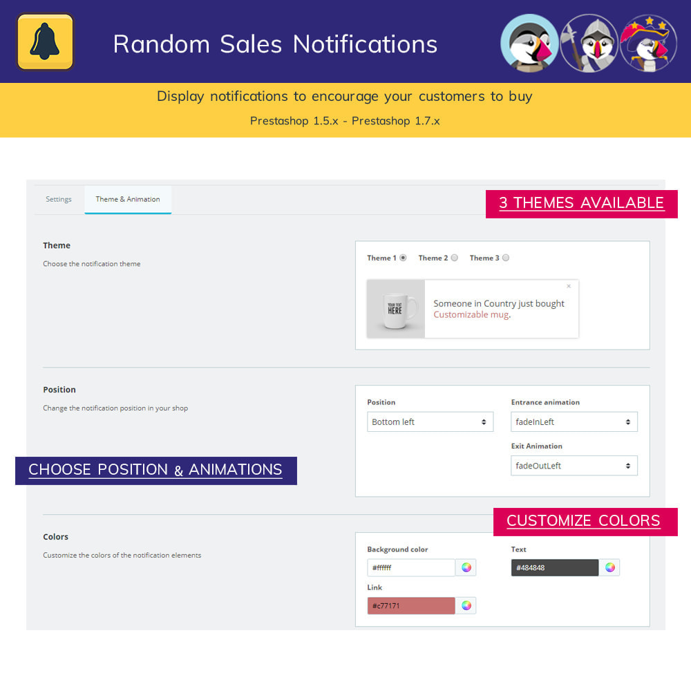 module - Notifications & Automatic Emails - Random sales notifications - 4