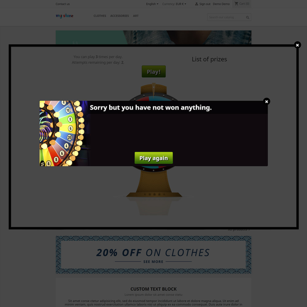 module - Contests - Wheel of Fortune, discounts and gifts to customers - 6