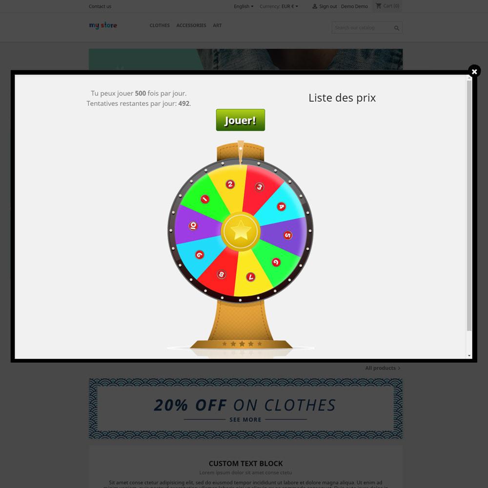 module - Jeux-concours - Roue de la Fortune, remises et cadeaux aux clients - 4