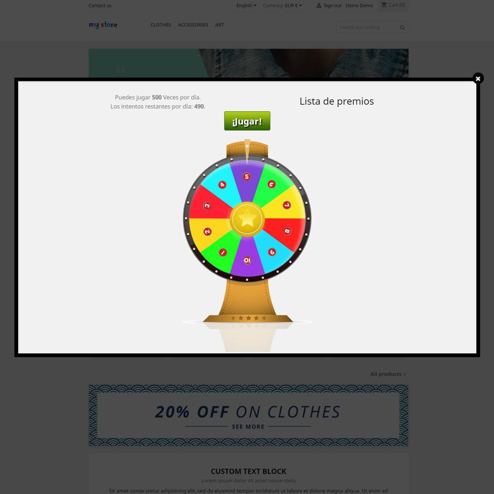module - Concurso - Wheel la Fortuna, descuentos y regalos a los clientes - 4