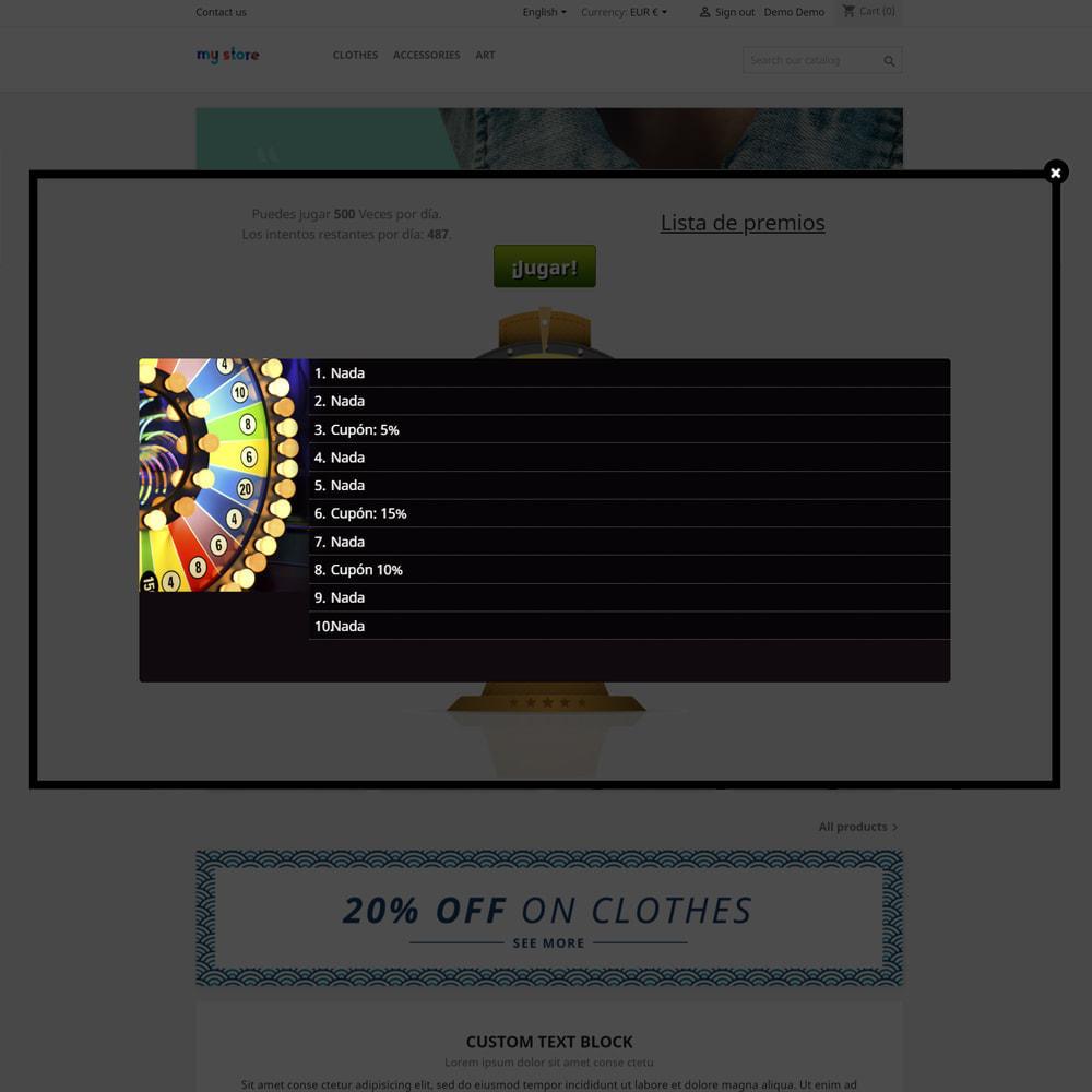 module - Concurso - Wheel la Fortuna, descuentos y regalos a los clientes - 5