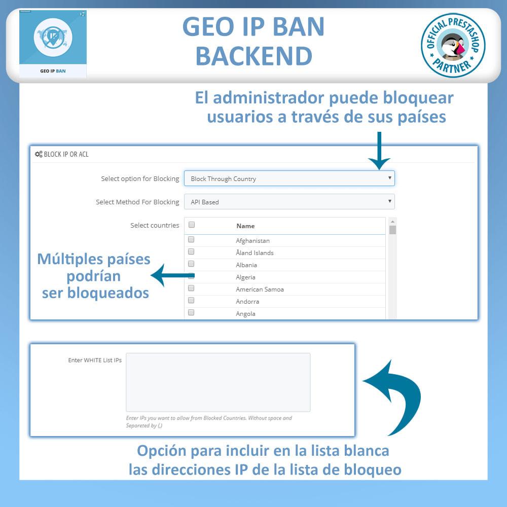 module - Seguridad y Accesos - GEO IP, Bloquear bots y usuarios basado en el IP o país - 2