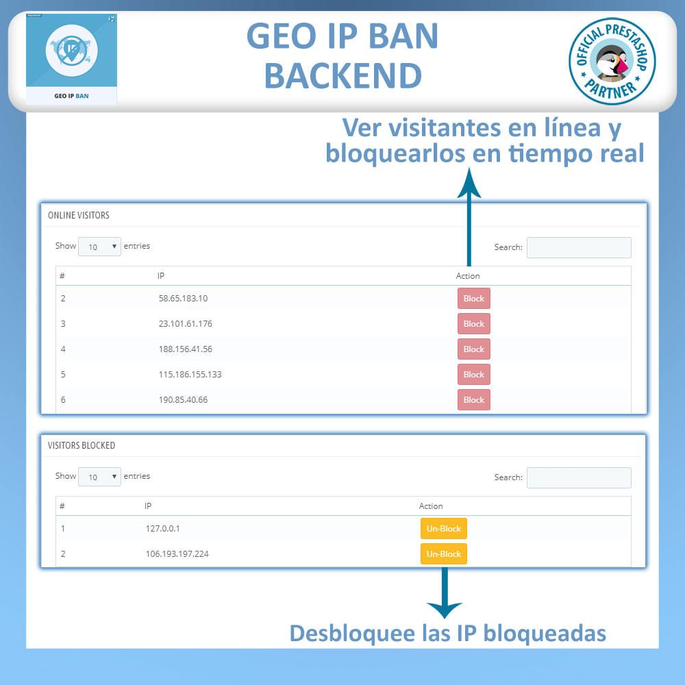 module - Seguridad y Accesos - GEO IP, Bloquear bots y usuarios basado en el IP o país - 4