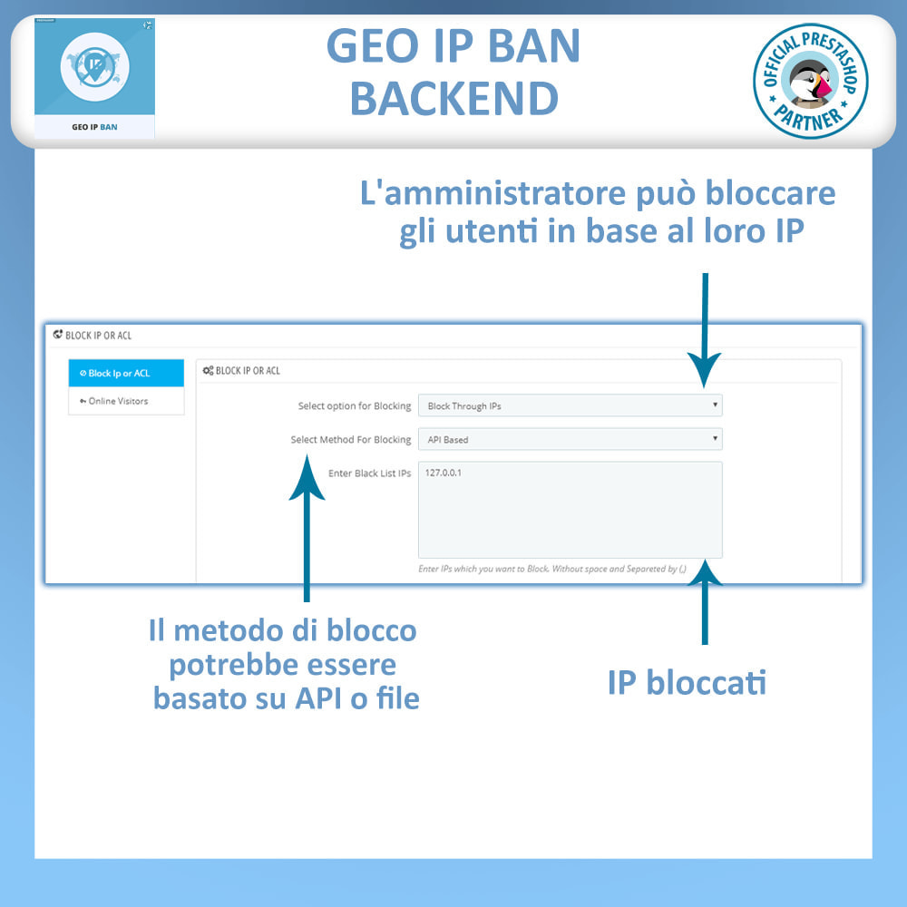 module - Security & Access - GeoIP Ban, Blocca Bot e Utenti per indirizzo IP o Paese - 1