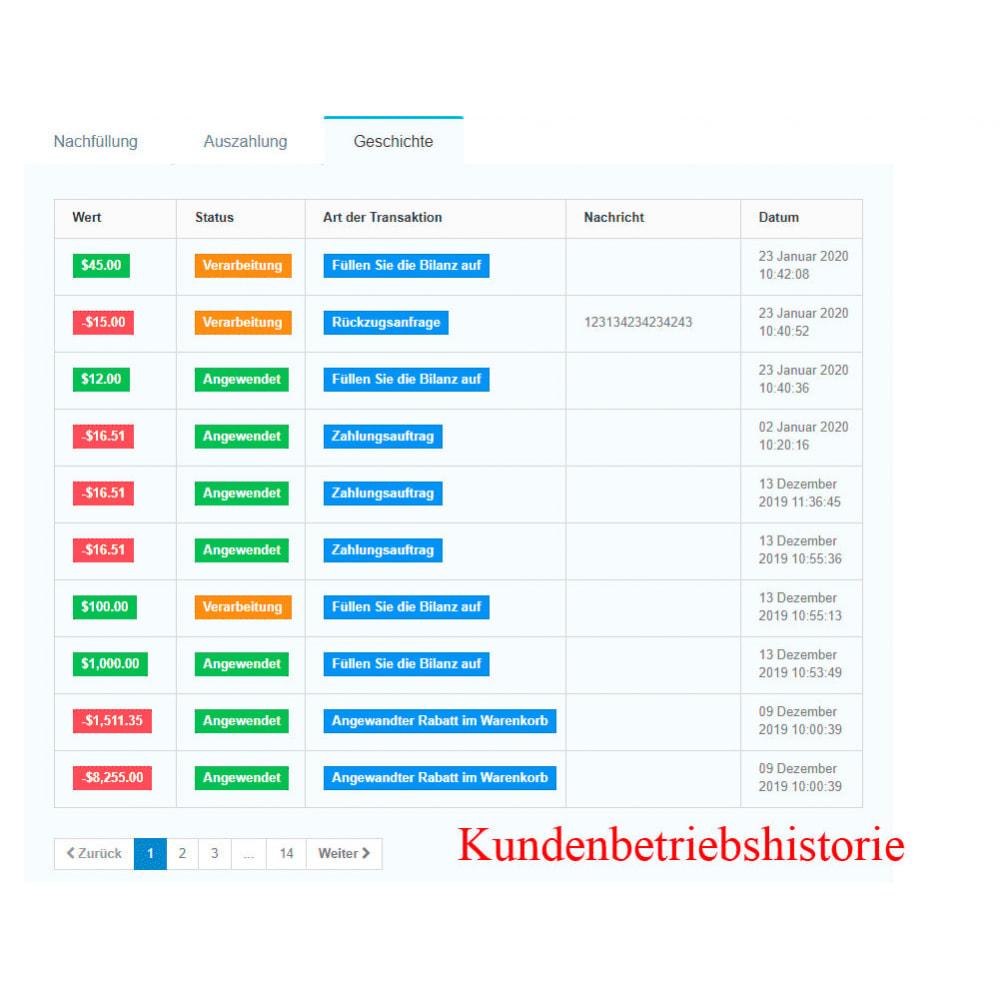 module - Zahlung per Kreditkarte oder Wallet - Interner Benutzerbilanz UserBalance - 12