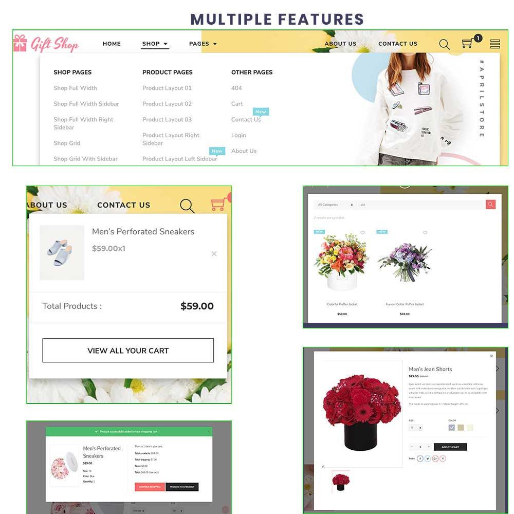 theme - Prezenty, Kwiaty & Uroczystości - Flower Store eCommerce Bootstrap 4 - 5