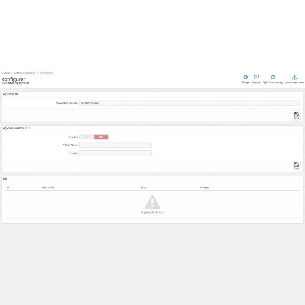 module - Dodatkowe informacje & Zakładka produktu - Extra Category Description - 2