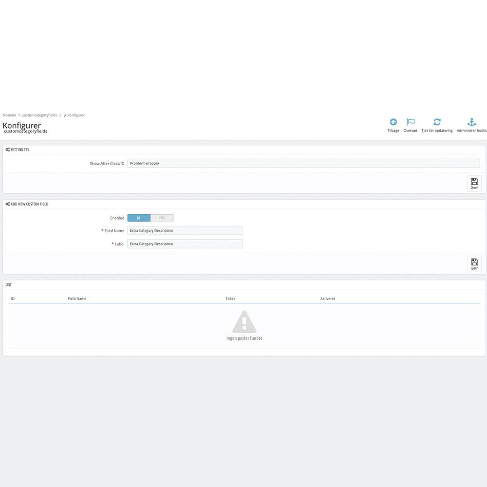 module - Dodatkowe informacje & Zakładka produktu - Extra Category Description - 3