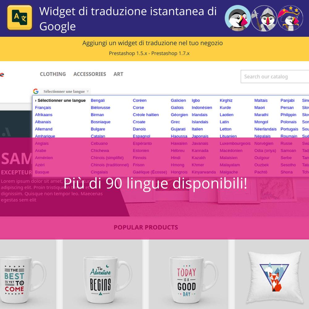 module - Lingue & Traduzioni - Widget di traduzione istantanea di Google - 3