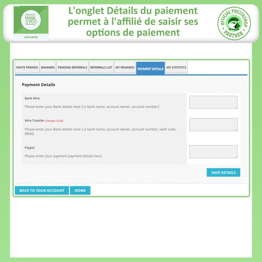 module - Référencement payant (SEA SEM) & Affiliation - Affiliés, Gestion de programme d'affiliation anticipée - 8