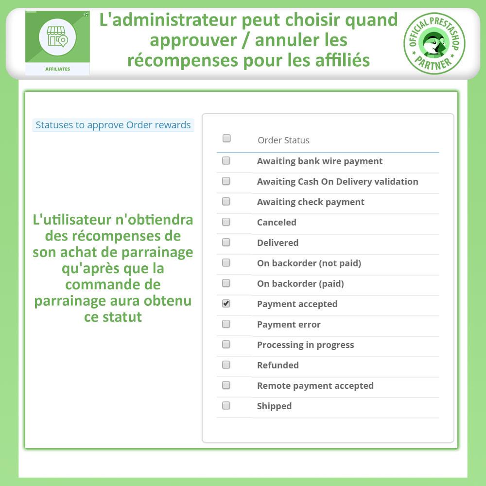 module - Référencement payant (SEA SEM) & Affiliation - Affiliés, Gestion de programme d'affiliation anticipée - 14