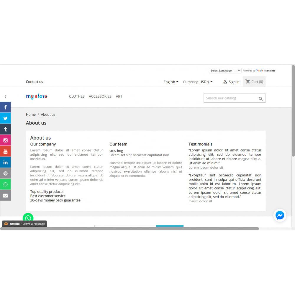 module - Виджеты для социальных сетей - Кнопки ссылок в боковой панели социальных сетей - 9