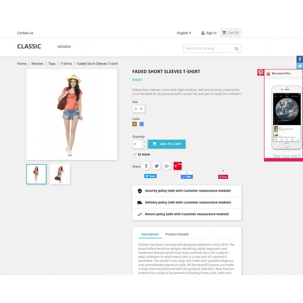 module - Widgets réseaux sociaux - Social Widgets + Boutons (3 en 1) - 3