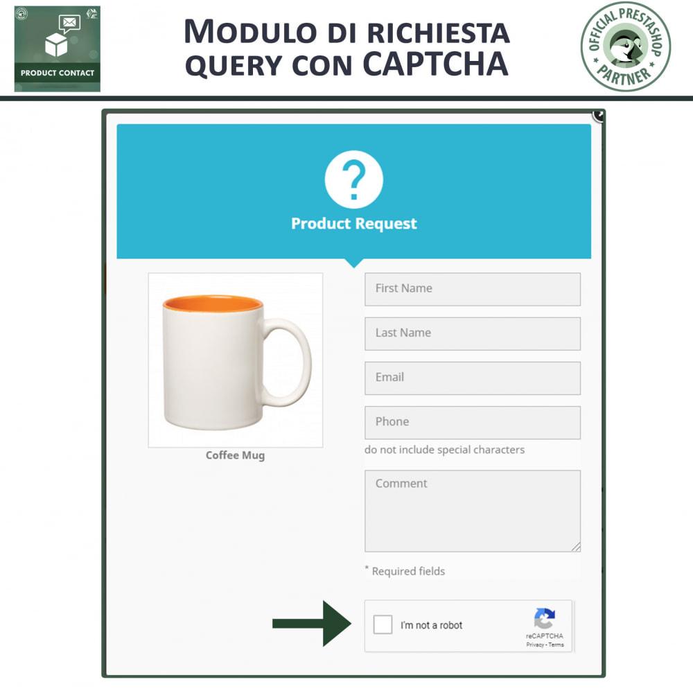 module - Form di contatto & Questionari - Contatti Prodotto – Modulo richieste - 3