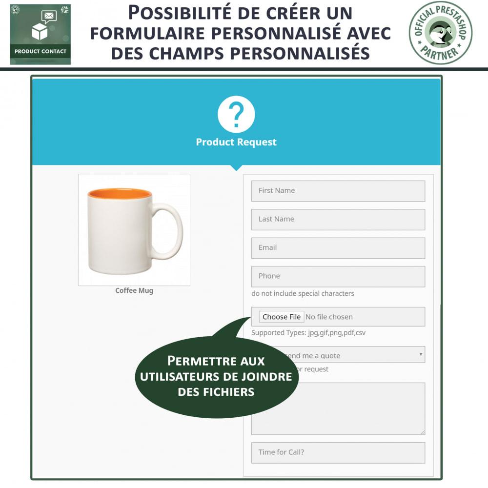 module - Formulaires de Contact & Sondages - Contact du produit  - Formulaire de Demande - 9