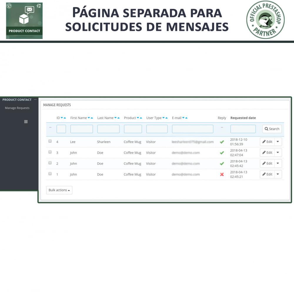 module - Formulario de contacto y Sondeos - Contacto del producto - Formulario de solicitud - 8