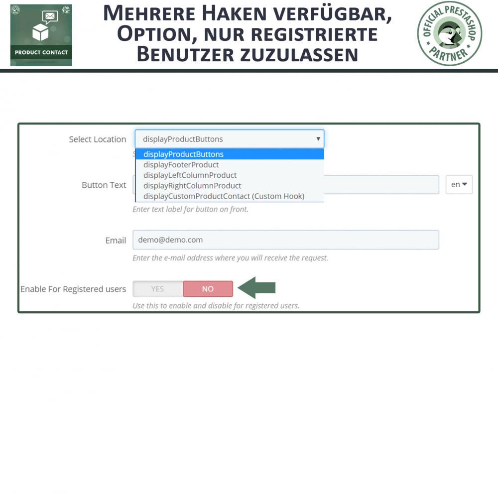 module - Kontaktformular & Umfragen - Produkt Kontakt - Anfrageformular - 8