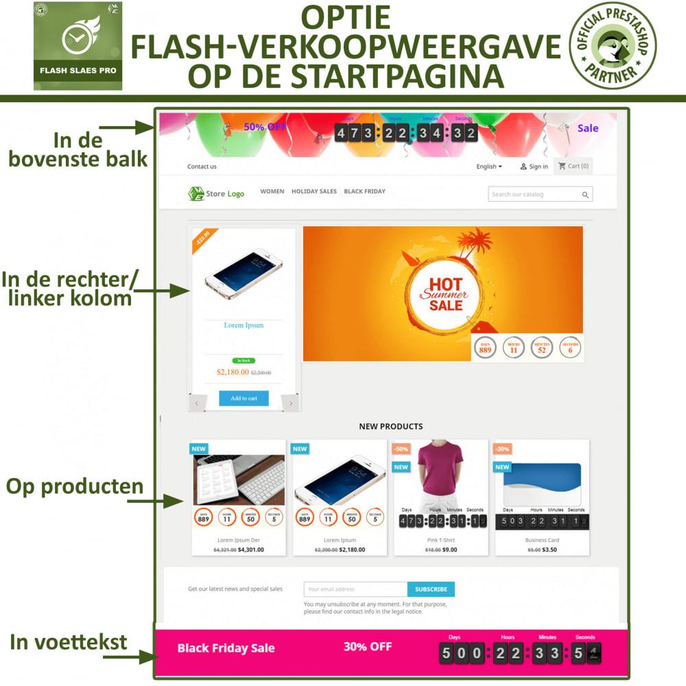 module - Uitverkoop & Besloten verkoop - Flash Sales Pro - Korting met een Aftel Timer - 2