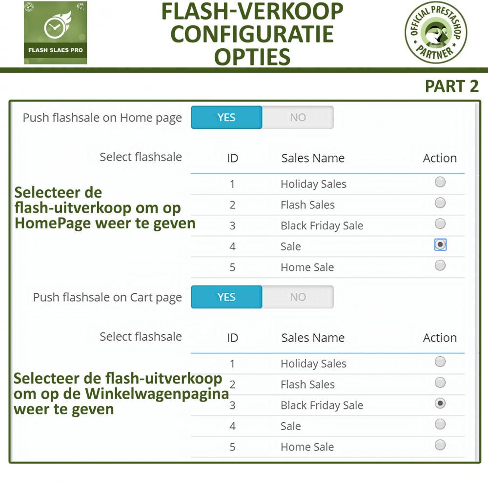 module - Uitverkoop & Besloten verkoop - Flash Sales Pro - Korting met een Aftel Timer - 15