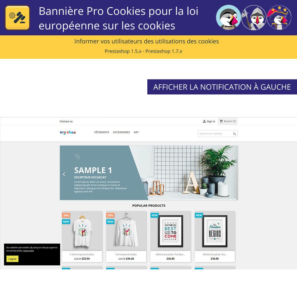 module - Législation - Bannière De Cookies Pour La Loi Européenne Des Cookies - 2