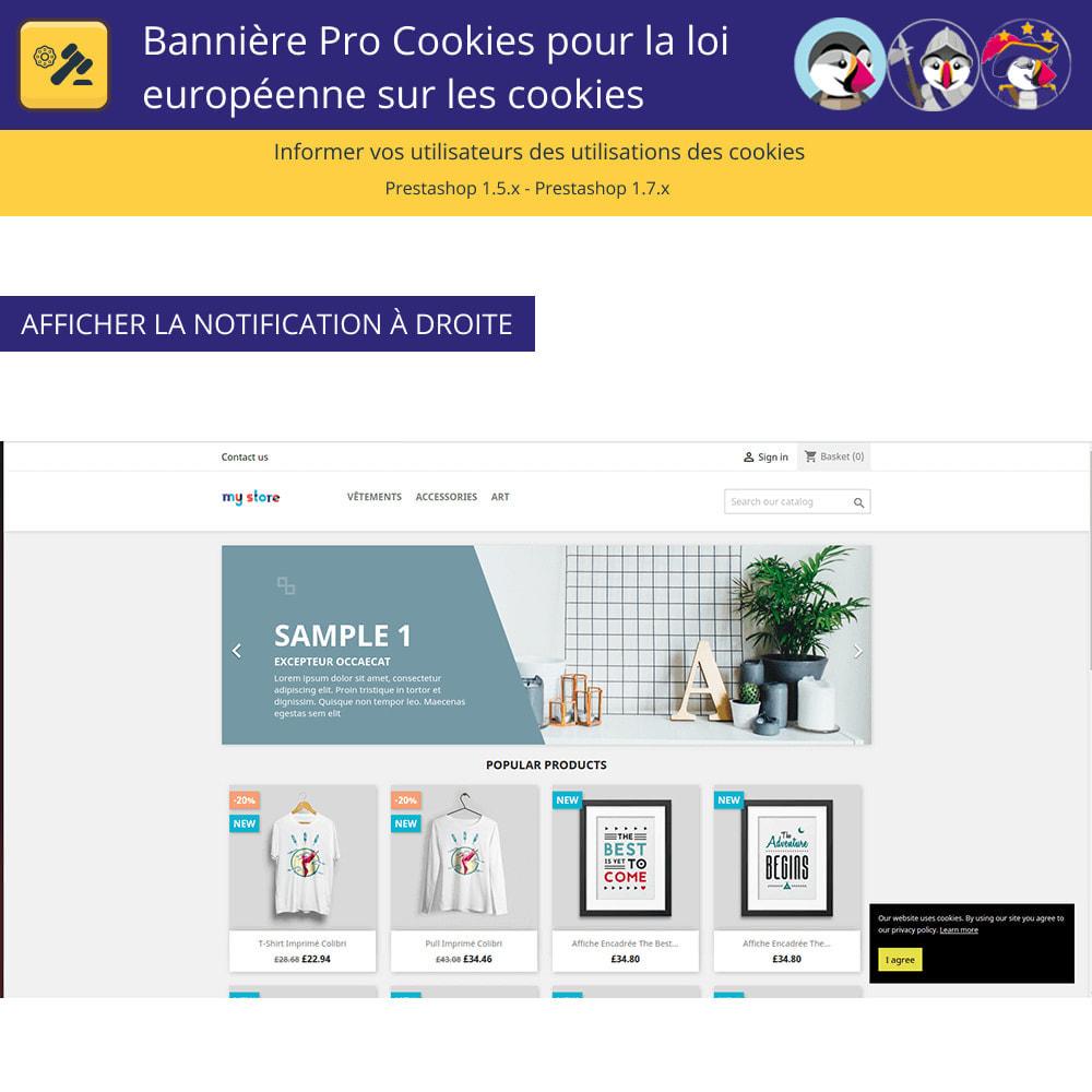 module - Législation - Bannière De Cookies Pour La Loi Européenne Des Cookies - 3