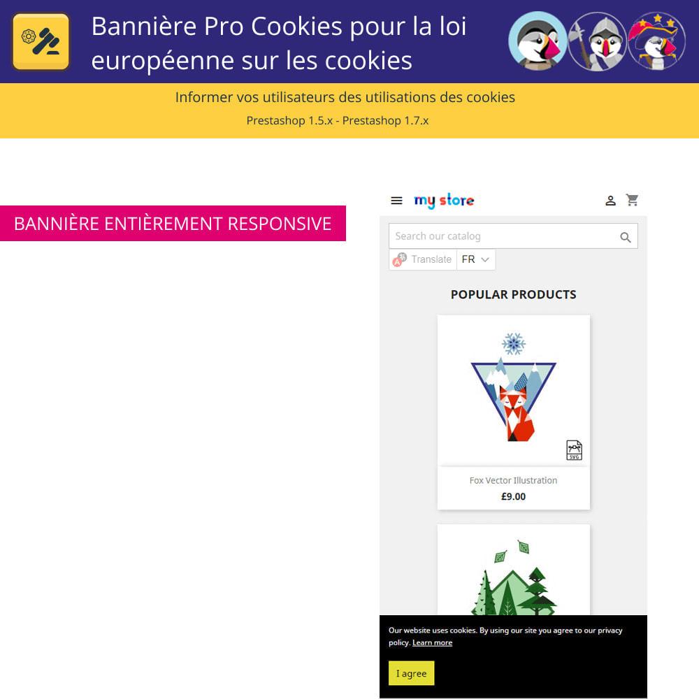 module - Législation - Bannière De Cookies Pour La Loi Européenne Des Cookies - 5