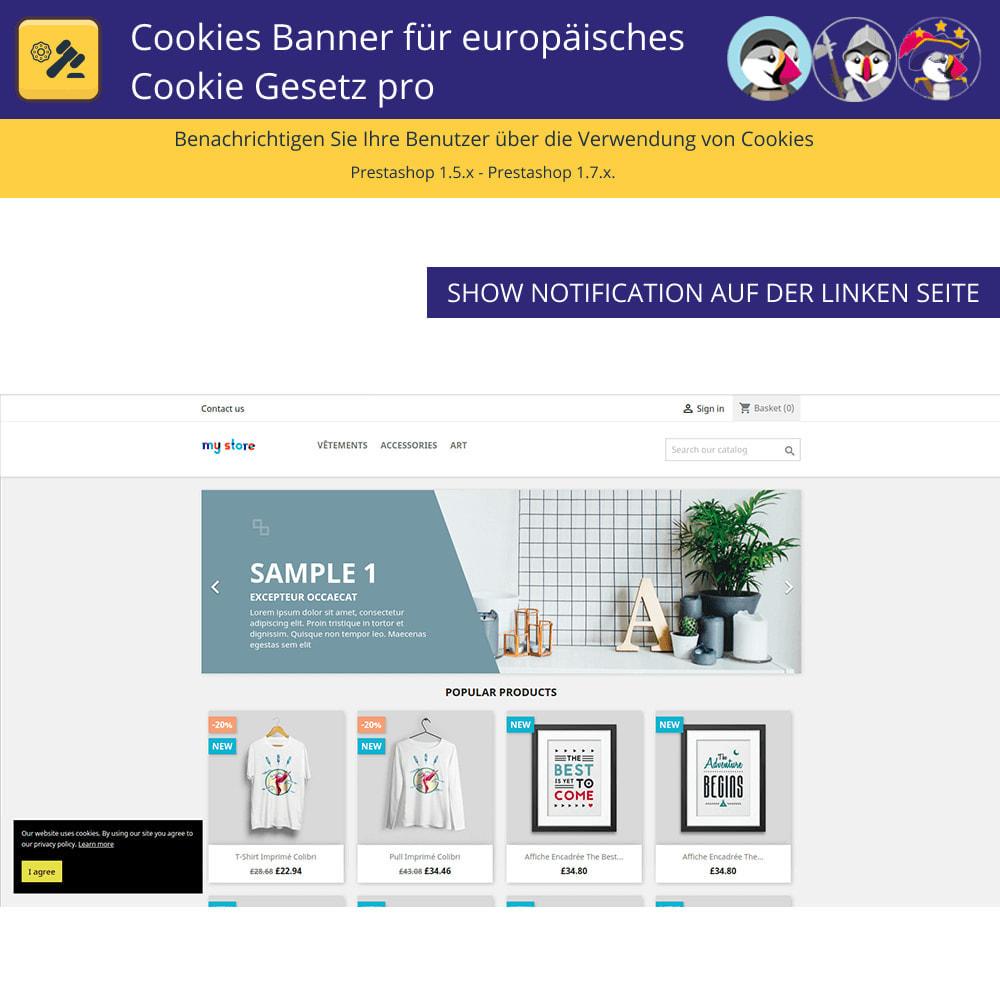 module - Rechtssicherheit - Pro Cookies Banner für das europäische Cookie-Gesetz - 2