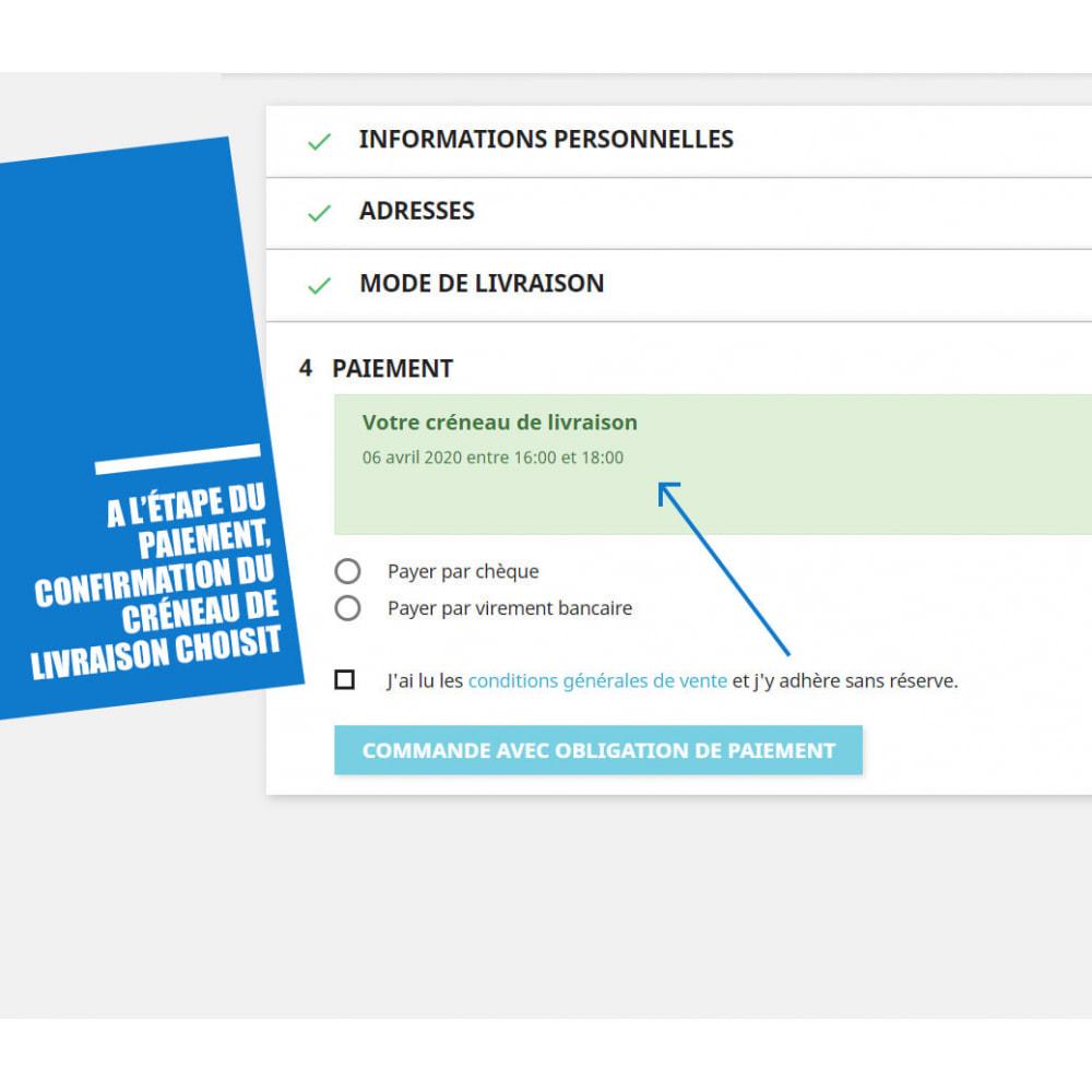 module - Date de livraison - Créneaux de livraison par zones, codes postaux et coût - 7