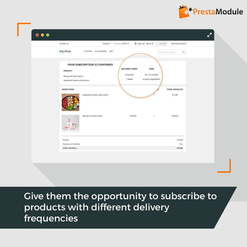 module - Abbonamenti (subscription box) - Advanced Subscription with automatic recurring payments - 5