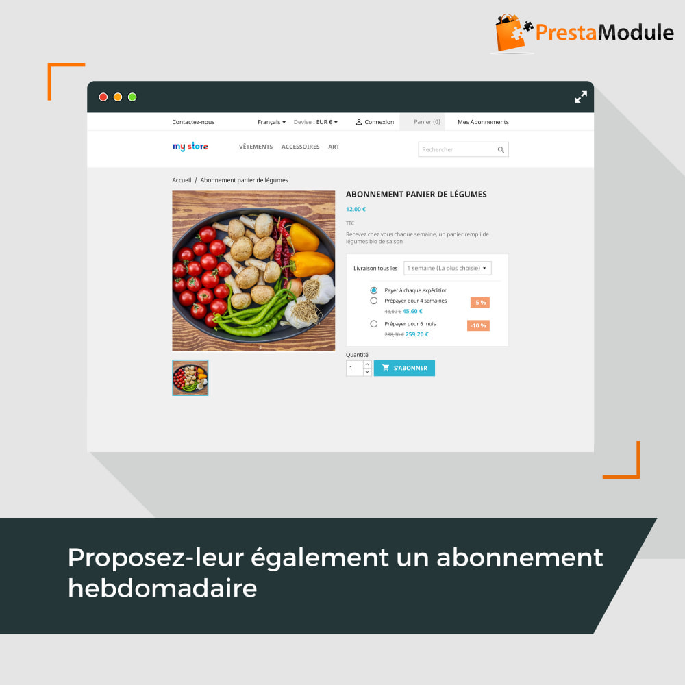 module - Abonnement (box) - Advanced Subscription: Abonnement & paiement récurrent - 2