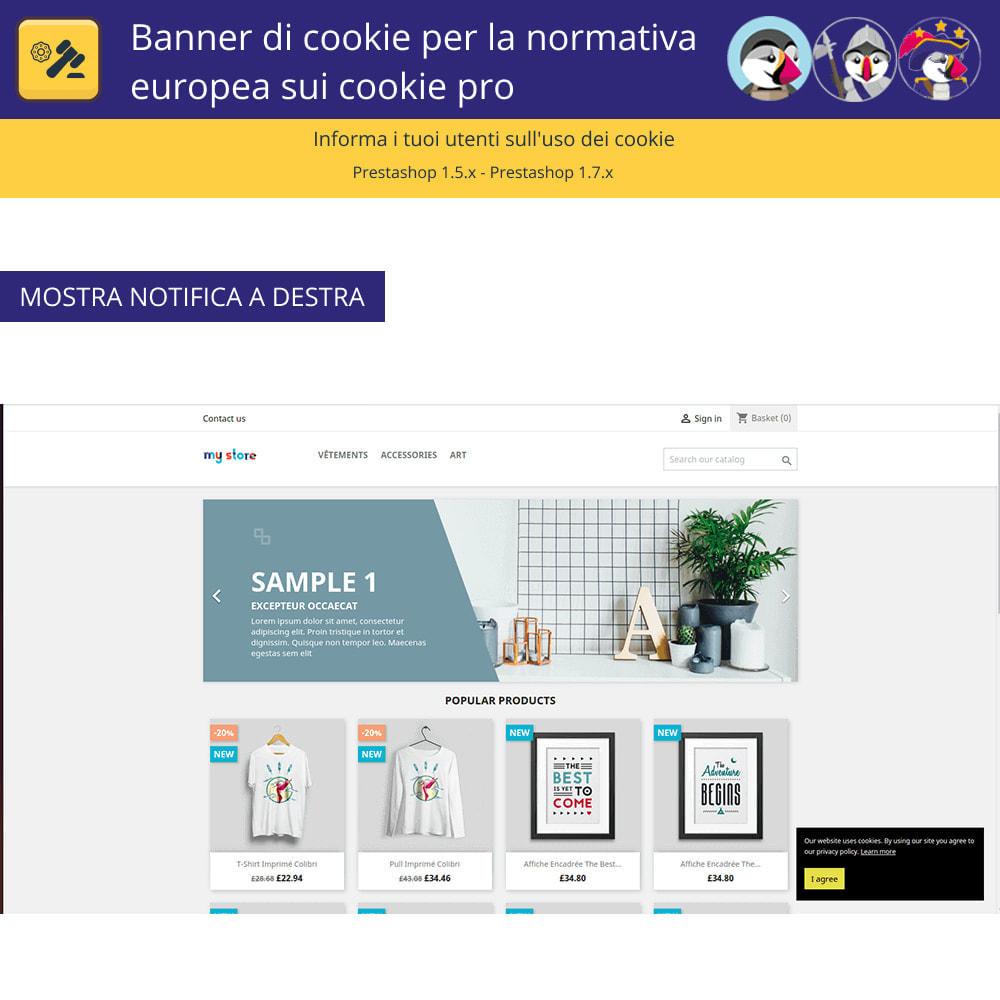 module - Legale (Legge Europea) - Banner Pro Cookies per la legge europea sui cookie - 3