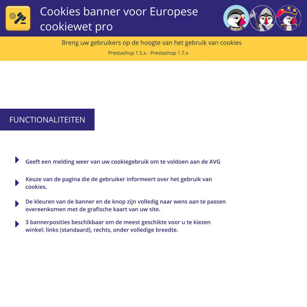 module - Juridisch - Cookiesbanner voor Europese wetgeving - 1
