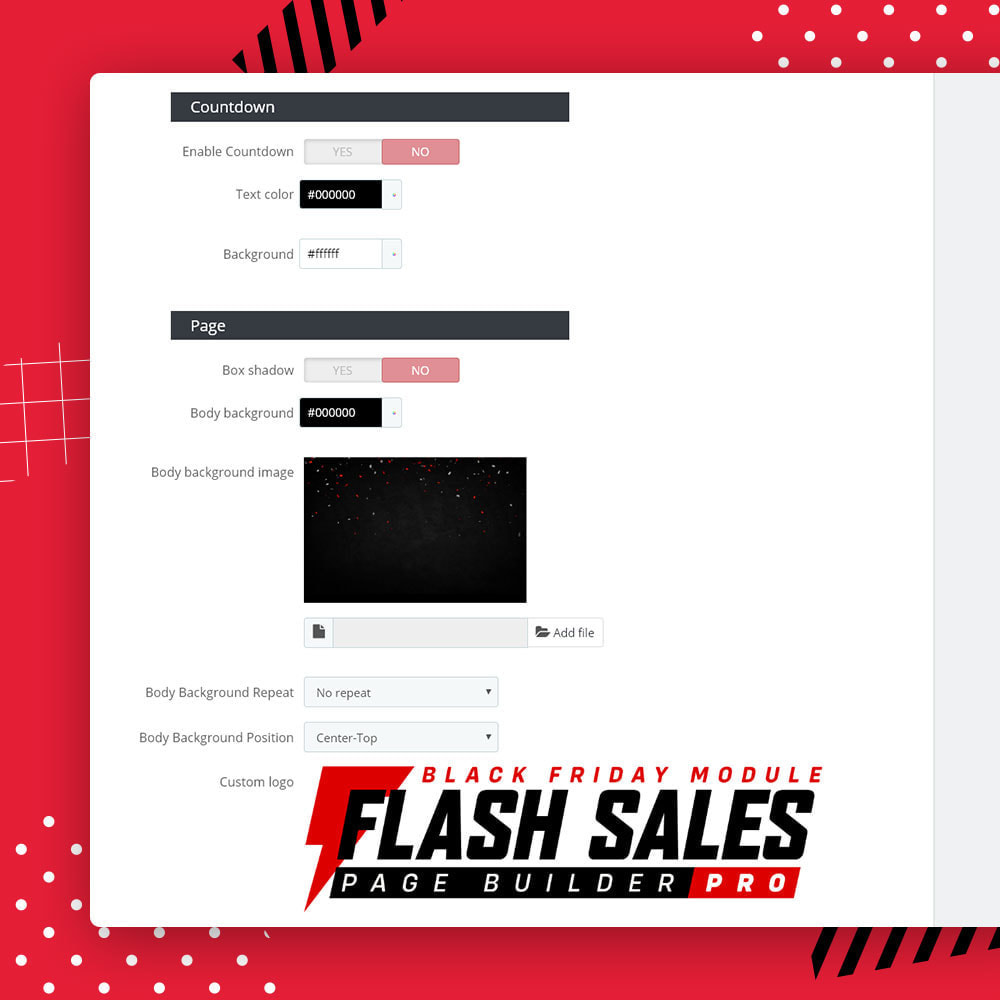 module - Promociones y Regalos - Flash SALES Page Builder PRO - Black Friday - 21