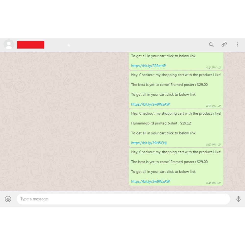 module - Послепродажное обслуживание - WhatsApp Share Cart - 6
